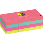 POSTIT 653AN MINI NOTES 36 X 48MM CAPE TOWN PACK 12