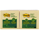 POSTIT 654RP 100 RECYCLED GREENER NOTES 76 X 76MM YELLOW PACK 12