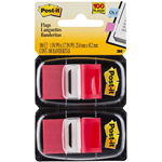 POSTIT 680RD2 FLAGS RED TWIN PACK 100
