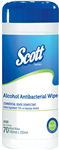 SCOTT 4100 ALCOHOL ANTIBACTERIAL WIPE TUB 70