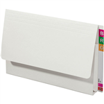 AVERY 43955 LATERAL DOCUMENT WALLET EXTRA HEAVY WEIGHT FOOLSCAP WHITE BOX 20