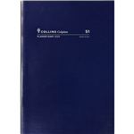 COLLINS 2022 COLPLAN PLANNER DIARY MONTH TO VIEW A4 BLUE