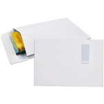 CUMBERLAND ENVELOPES SECURITIVE POCKET EXPANDABLE WINDOWFACE STRIP SEAL 150GSM 340 X 229MM WHITE PACK 50