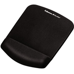 FELLOWES MOUSE PAD AND WRIST REST PLUSH TOUCH MICROBAN MEMORY FOAM LYCRA BLACK