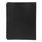MARBIG DISPLAY BOOK REFILLABLE 20 POCKET A4 BLACK
