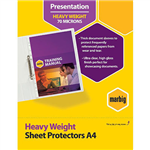 MARBIG HEAVYWEIGHT COPYSAFE SHEET PROTECTORS A4 BOX 100