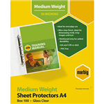 MARBIG SHEET PROTECTORS MEDIUM WEIGHT A4 BOX 100