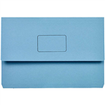 MARBIG SLIMPICK DOCUMENT WALLET FOOLSCAP BLUE