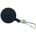 KEVRON ID1021 BADGE REEL SWIVEL CLIP BLACK BAG 10