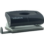 INITIATIVE HOLE PUNCH 2 HOLE 12 SHEET SMALL PLASTIC BLACK