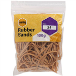 MARBIG RUBBER BANDS SIZE 34 100G