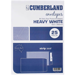 CUMBERLAND B4 ENVELOPES POCKET PLAINFACE STRIP SEAL 100GSM 353 X 250MM WHITE PACK 25