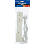 THE BRUTE POWER CO POWERBOARD 4 OUTLET WITH OVERLOAD PROTECTION 1M WHITE
