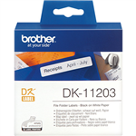 BROTHER DK11203 LABEL ROLL 17 X 87MM WHITE ROLL 300