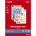 CANON HR101 HIGH RESOLUTION PHOTO PAPER 106GSM A4 WHITE PACK 200
