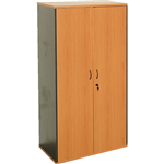 RAPID WORKER CUPBOARD LOCKABLE 1800 X 900 X 450MM BEECHIRONSTONE