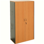 RAPID WORKER CUPBOARD LOCKABLE 1800 X 900 X 450MM CHERRYIRONSTONE
