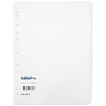 INITIATIVE DIVIDERS MANILLA 10TAB A4 WHITE