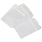 CUMBERLAND PRESS SEAL PLASTIC BAG 40 MICRON 75 X 100MM CLEAR PACK 100