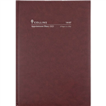 COLLINS 2022 APPOINTMENT DIARY 2 PAGES TO DAY 15 MINUTE A4 BURGUNDY