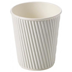 RIPPLE DOUBLE WALL COFFEE CUP 237ML 8OZ WHITE BOX 500