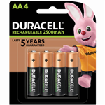 DURACELL RECHARGEABLE AA BATTERY PACK 4