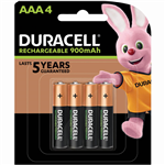 DURACELL RECHARGEABLE AAA BATTERY PACK 4