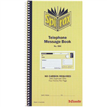 SPIRAX 550 TELEPHONE MESSAGE BOOK CARBONLESS 160 PAGE 279 X 144MM