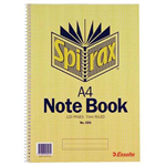 SPIRAX 595 NOTEBOOK 7MM RULED SPIRAL BOUND SIDE OPEN 120 PAGE A4