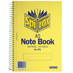 SPIRAX 571 NOTEBOOK 7MM RULED SPIRAL BOUND SIDE OPEN 300 PAGE A5