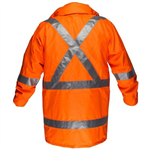 PRIME MOVER MX306 MAX HI VIS RAIN JACKET WITH CROSSBACK TAPE