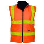 PRIME MOVER MY214 WATERPROOF POLAR FLEECE LINED VEST REVERSIBLE WITH MICRO PRISM TAPE