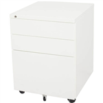 GO STEEL MOBILE PEDESTAL STEEL 3 DRAWERS 460 X 472 X 610MM WHITE CHINA