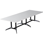 RAPIDLINE TYPHOON BOARDROOM TABLE 3200 X 1200 X 750MM WHITE