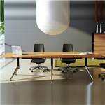 NOVARA BOARDROOM TABLE ZEBRANO TIMBER VENEER WITH CABLE BOX 3000 X 1200 X 750MM