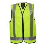 PRIME MOVER MV188 HI VIS DAYNIGHT USE VEST CROSS BACK TAPE