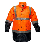 PRIME MOVER MJ306 LIGHTWEIGHT HI VIS JACKET WITH TAPE WATERPROOF DAYNIGHT 2 TONE
