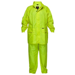 PRIME MOVER MS939 HI VIS WET WEATHER JACKET AND PANT SUIT