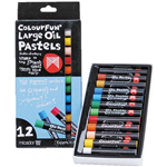 MICADOR COLOURFUN LARGE OIL PASTELS ASSORTED PACK 12