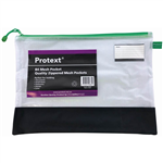 PROTEXT MESH POUCH WITH ZIPPER  NOTE POCKET 435 X 300MM