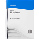 INITIATIVE SPIRAL NOTEBOOK SIDE BOUND A4 240 PAGE