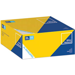 OFFICE NATIONAL DL ENVELOPES WALLET PLAINFACE SELF SEAL 80GSM 110 X 220MM WHITE BOX 500
