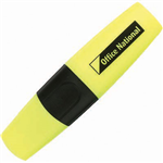 OFFICE NATIONAL BUSINESS HIGHLIGHTER CHISEL YELLOW