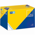 OFFICE NATIONAL C4 ENVELOPES POCKET PLAINFACE STRIP SEAL 80GSM 324 X 229MM WHITE BOX 250