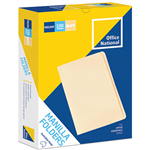OFFICE NATIONAL MANILLA FOLDERS FOOLSCAP BUFF BOX 100