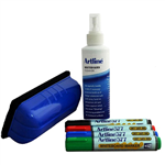 ARTLINE 577 WHITEBOARD STARTER KIT INCL 4 MARKERS ASSORTED