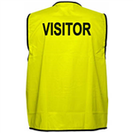 PRIME MOVER MV120 HI VIS VEST PRINTED VISITOR DAY USE ONLY