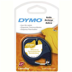 DYMO 18771 LETRATAG LABELLING TAPE IRON ON 12MM X 2M BLACK ON WHITE