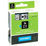 DYMO 45803 D1 LABELLING TAPE 19MM X 7M BLACK ON WHITE