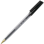 STAEDTLER 432 TRIANGULAR BALLPOINT STICK PEN MEDIUM BLACK BOX 10